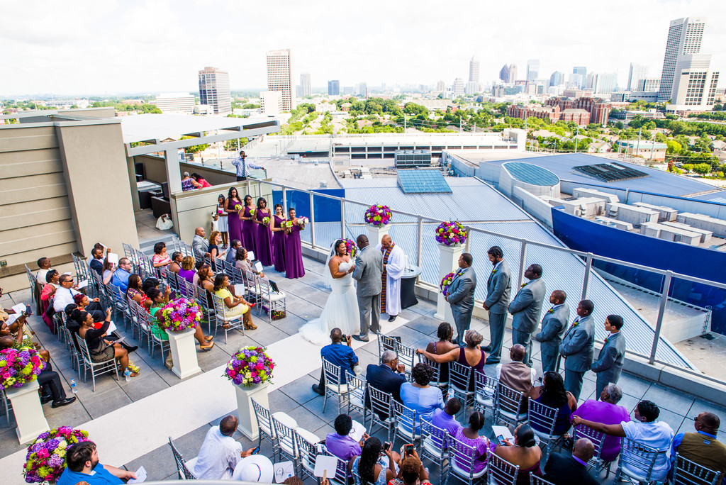 Ventanas Atlanta Wedding Photographer Rooftop Wedding