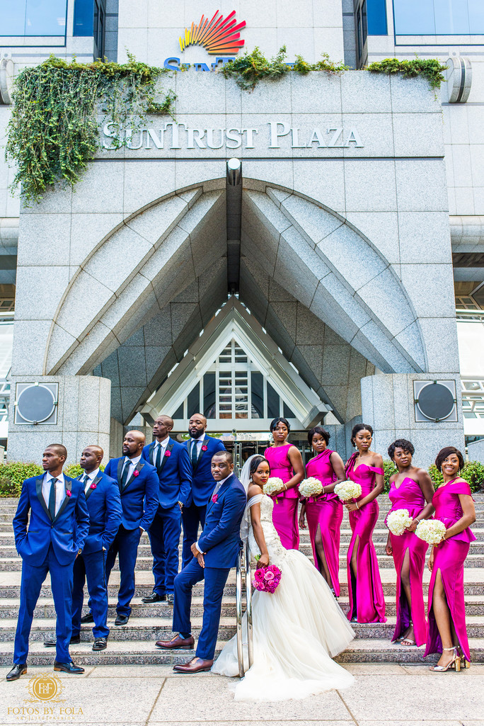 Atlanta Wedding Photographer Bridal Party in Formation