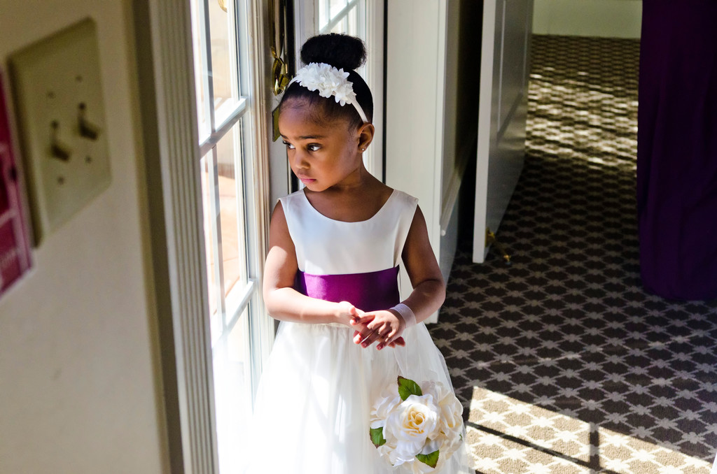 Ashton Gardens Atlanta Wedding Photographer flower girl