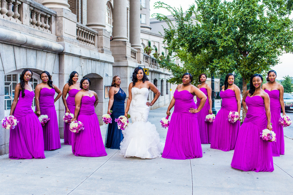 Atlanta Wedding Photographer Georgian Terrace bridesmaids