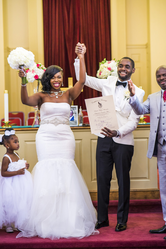 Temple Atlanta Wedding Photographer Newlyweds