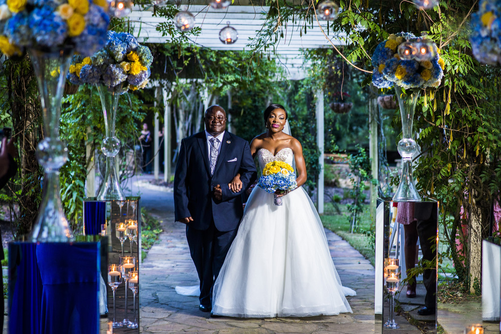 Glendalough Manor Wedding Liberian Wedding Bride Entrance