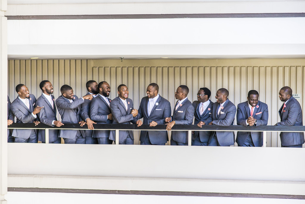 Hilton Atlanta Hotel Atlanta Wedding Photographer groom