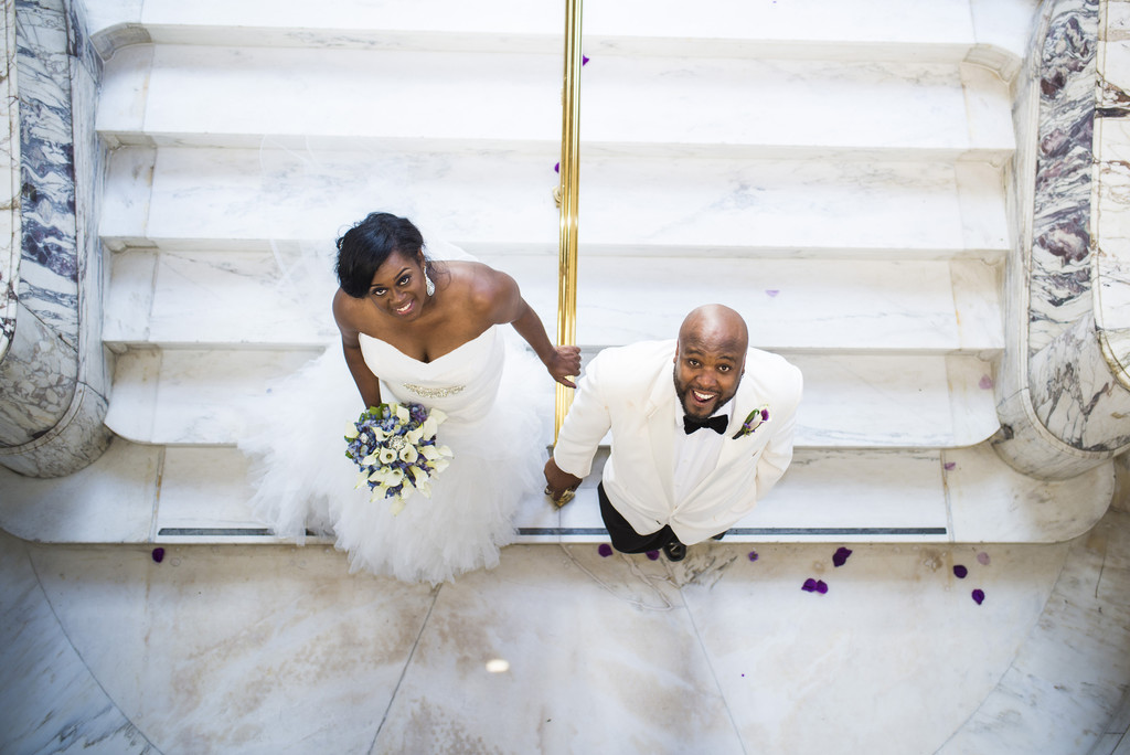 Venetian Room Atlanta Wedding Photographer Bride and Groom