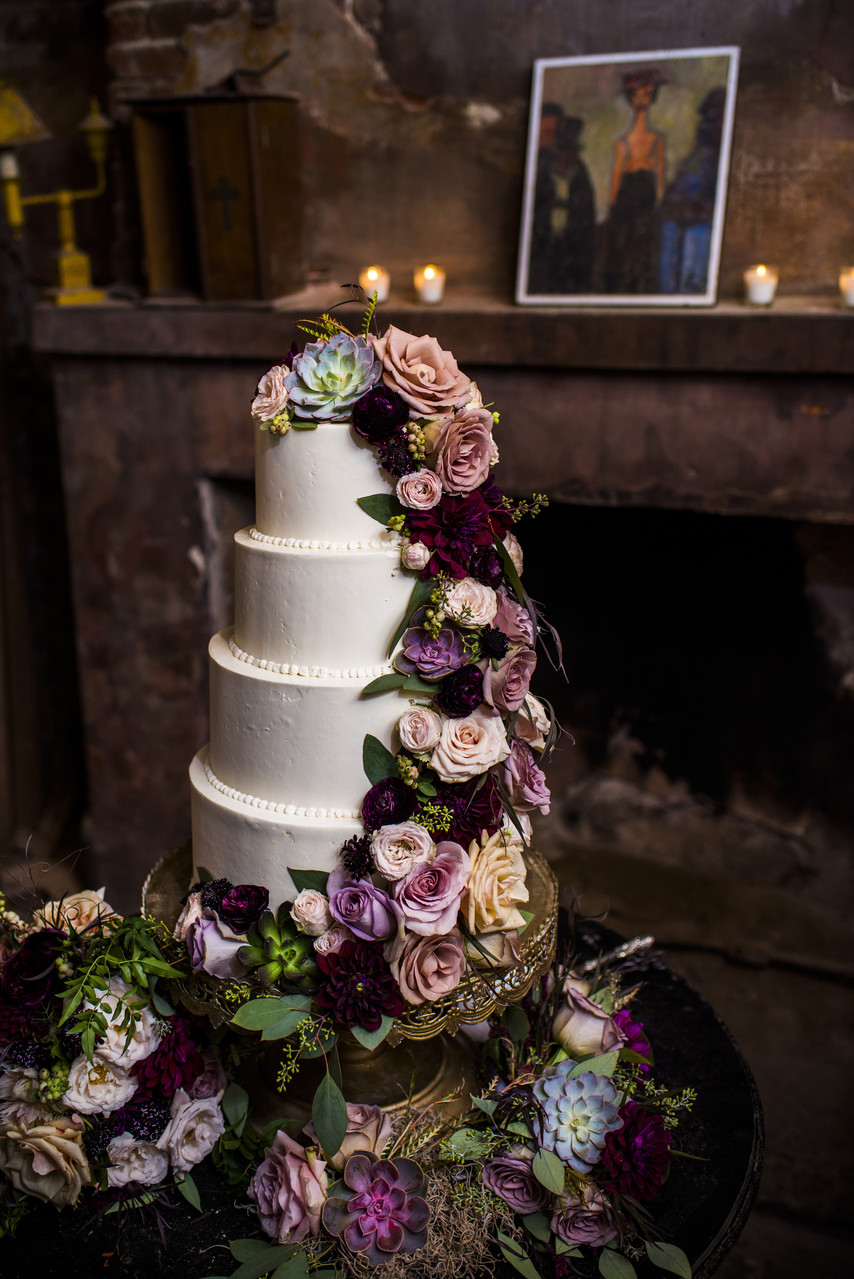 Race and Religious New Orleans Wedding Photographer cake
