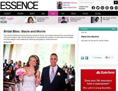 Ashton Garden Wedding Featured in Essence Magazine