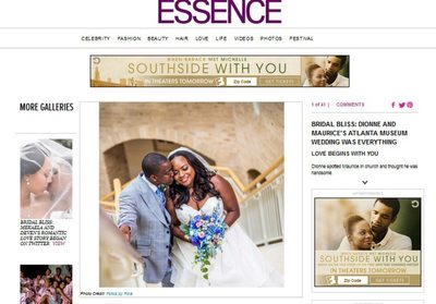 Fernbank Museum Wedding Featured on Essence Magazine