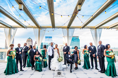 Peachtree Club Atlanta Wedding Photographer Bridal Party