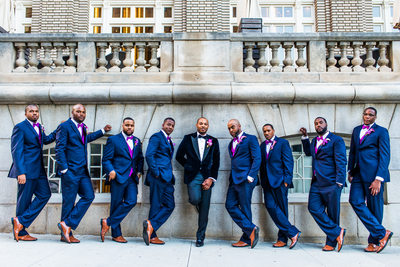 Atlanta Wedding Photographer Georgian Terrace groomsmen