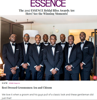Essence Magazine Bridal Bliss Award Winner Fotos by Fola