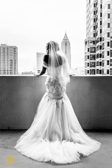 Atlanta Wedding Photographer Bride at the Hyatt Regency