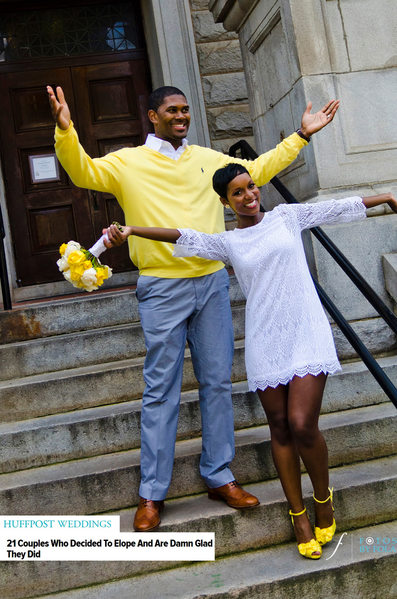 Yellow Courthouse Wedding Featured on HuffPost Weddings