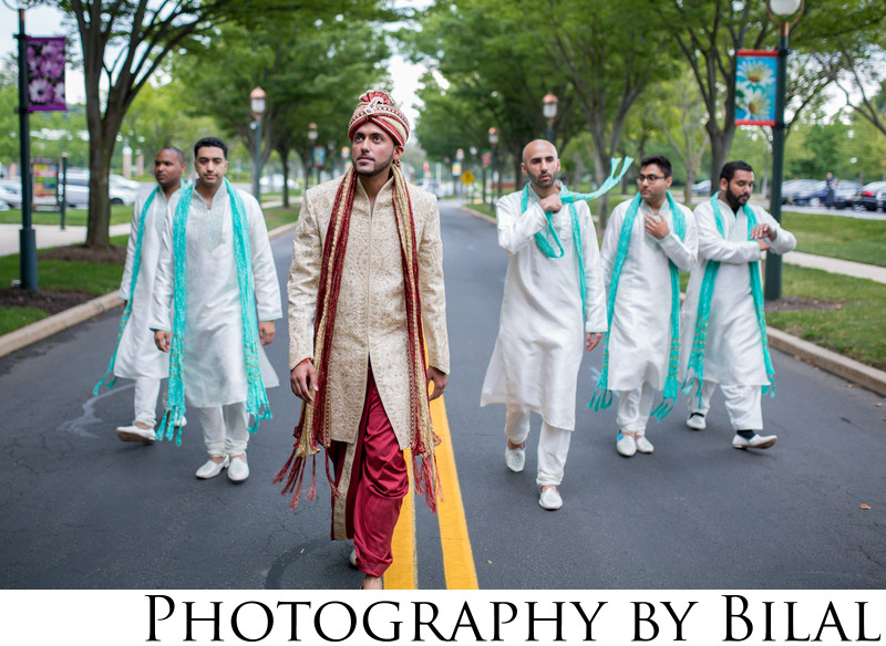 Indian Groomsmen Wedding Photography NJ