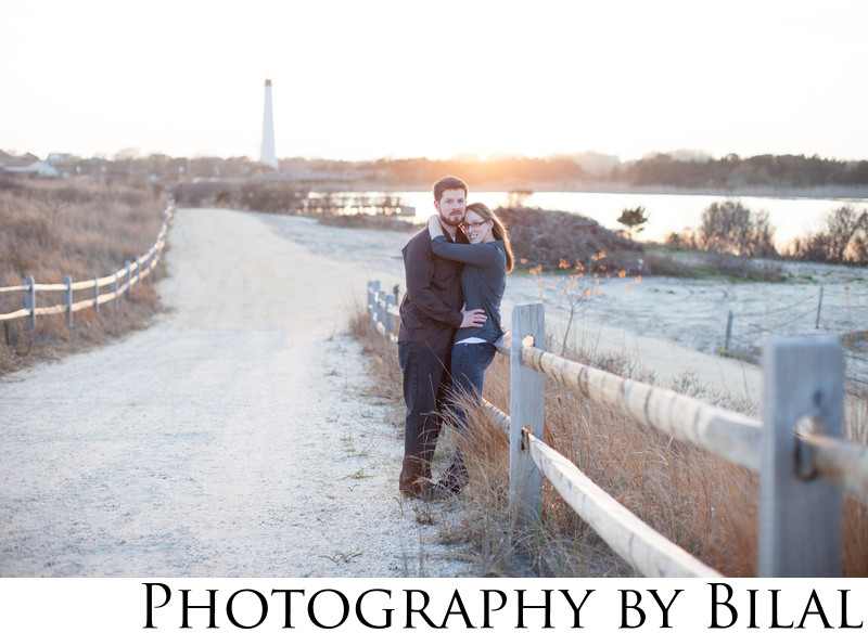 Cape May Lighthouse Engagement photos