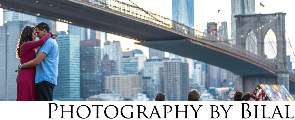 Brooklyn Bridge Park Engagement Photographer