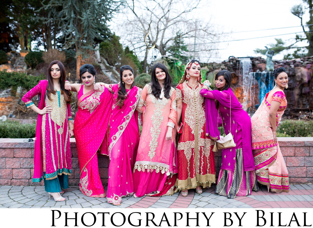 Pakistani Bridesmaids Wedding Photos Lucien's Manor NJ