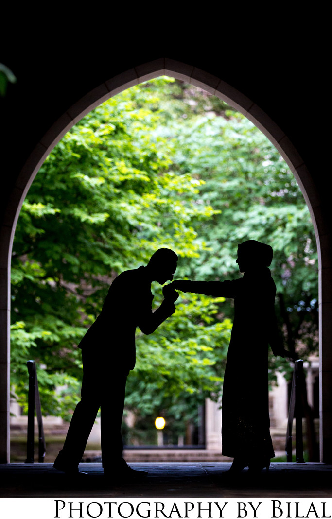 Princeton University engagement photos