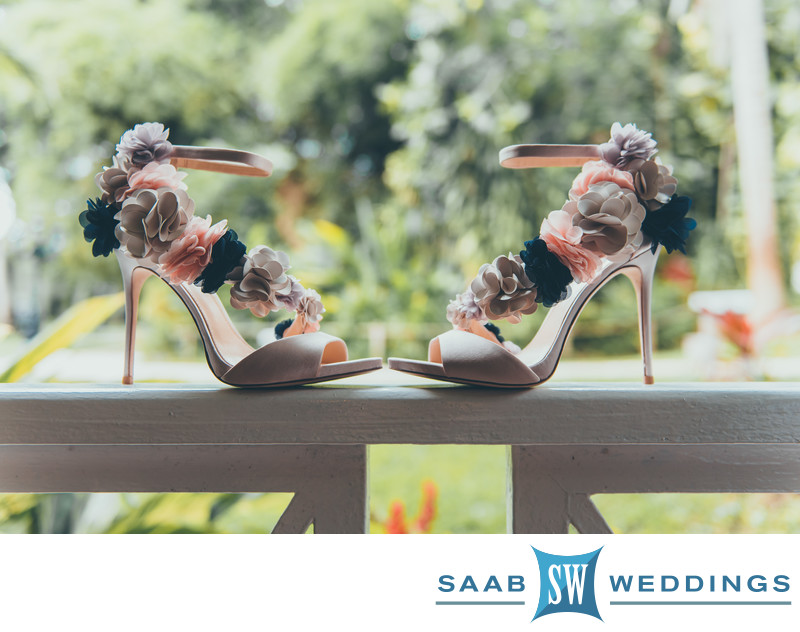 Pretty Wedding Shoes at Sandals Jamaica