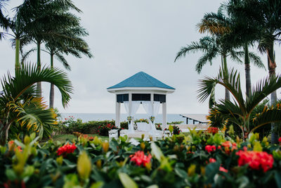 The Cliff Hotel Negril Jamaica wedding photo