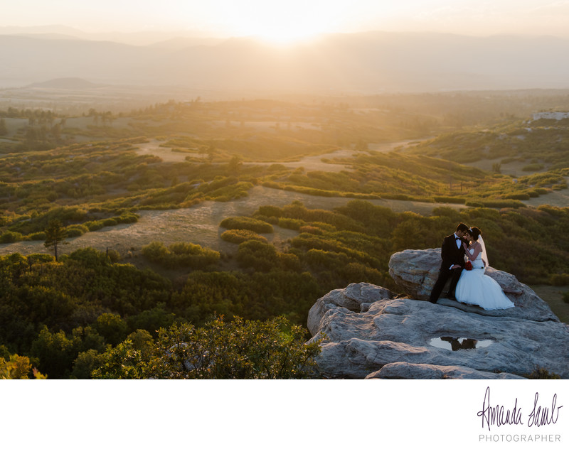 Daniel's Park Overlook Wedding Portrait