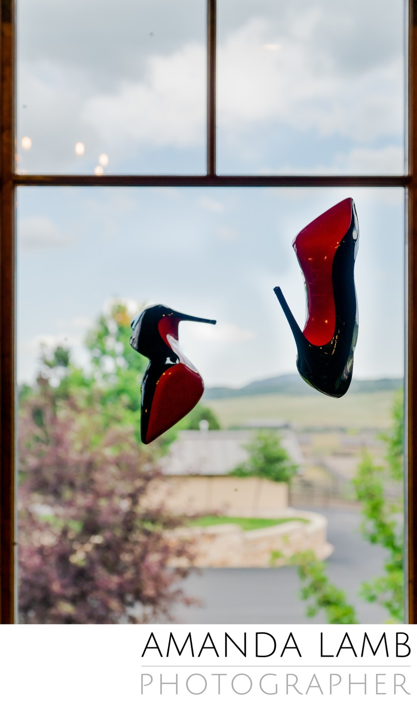 Colorado Springs wedding shoe photographer