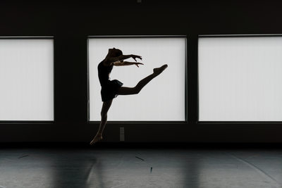 Leaping Colorado Springs Dancer Silhouette