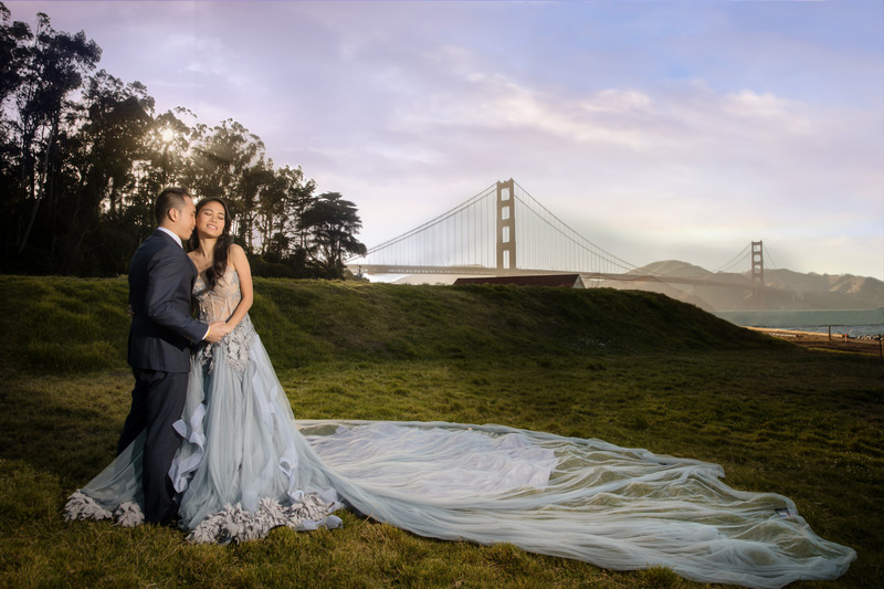 Golden Gate Bridge Wedding Photos San Francisco Photographer