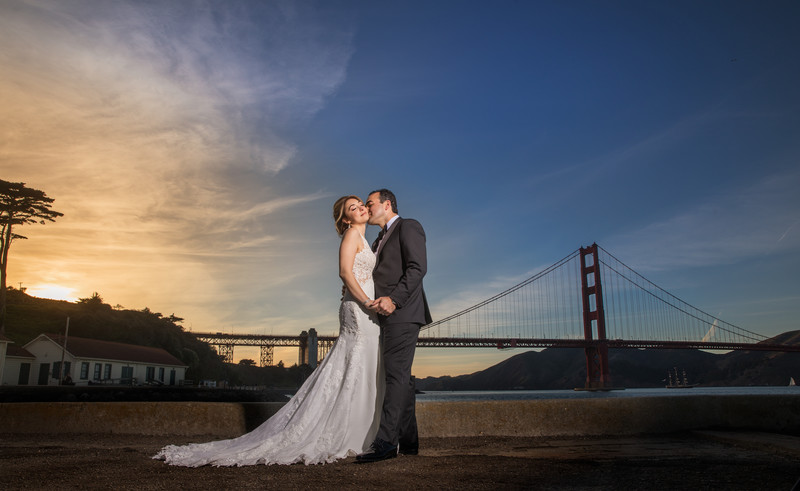 San Francisco City Wedding, Golden Gate Bridge.
