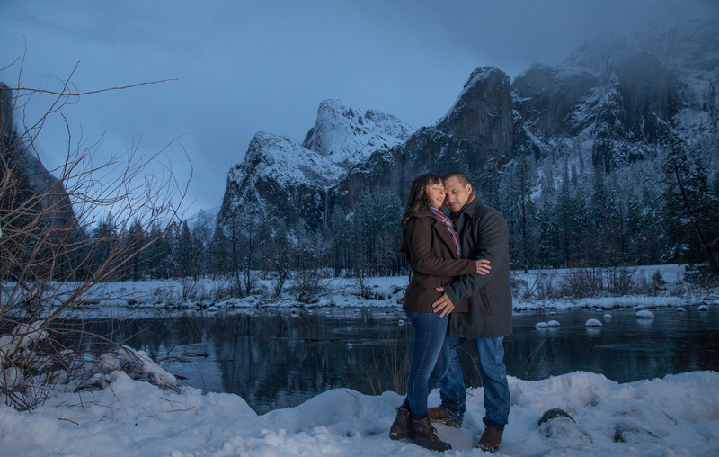 Winter Engagement photos in Yosemite, Yosemite Photographer