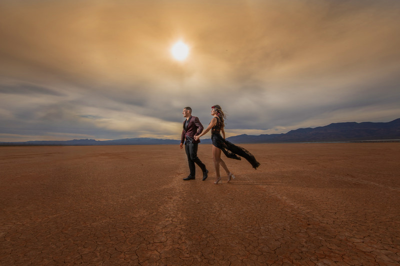 El Dorado Lake Bed Dessert Engagement session.