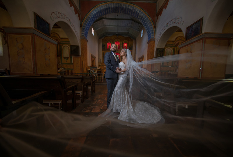 Wedding Photos at Mission San Juan Bautista