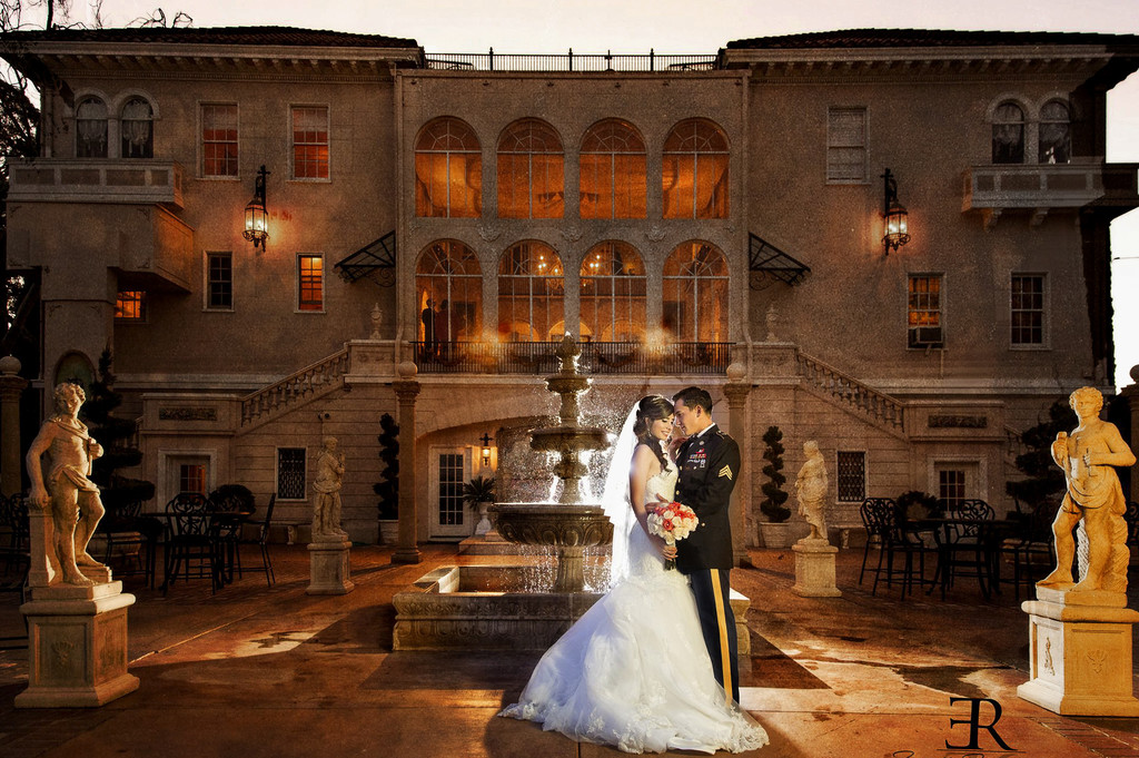 Bride and Groom Grand Island Mansion Photos