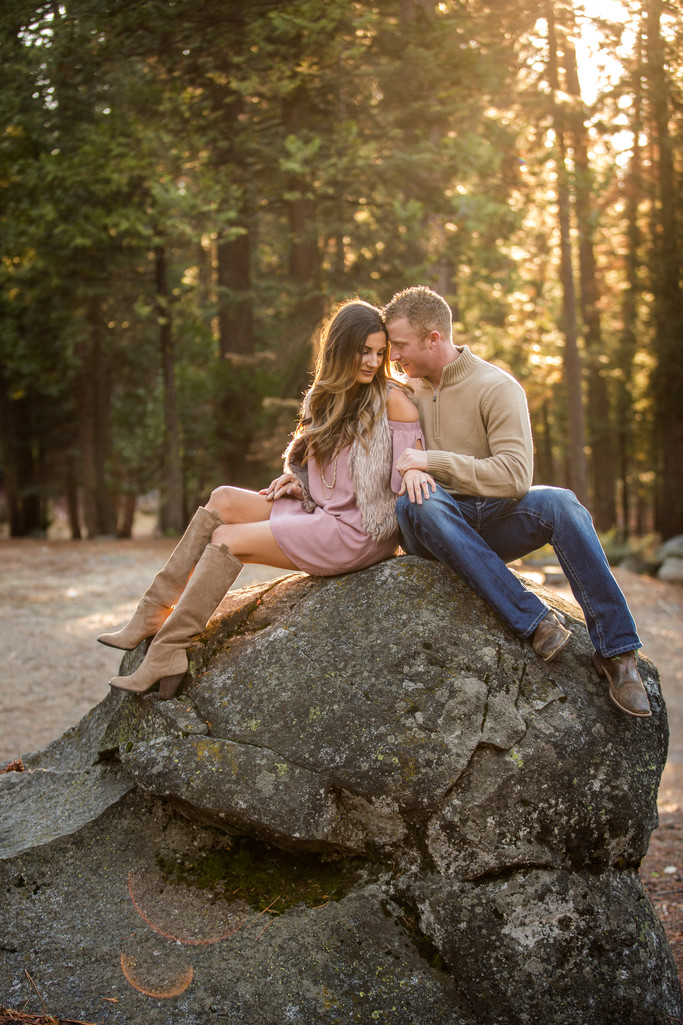 Pinecrest winter engagement session
