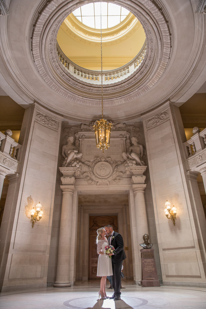 Local San Francisco City hall wedding photo