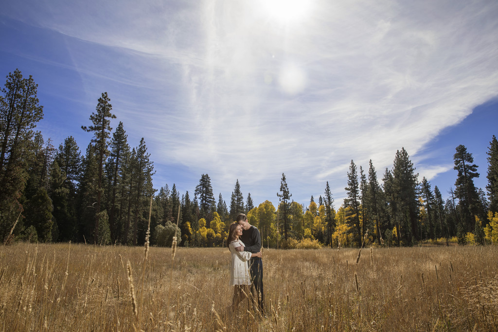 Fall Lake Tahoe Engagement session photographer