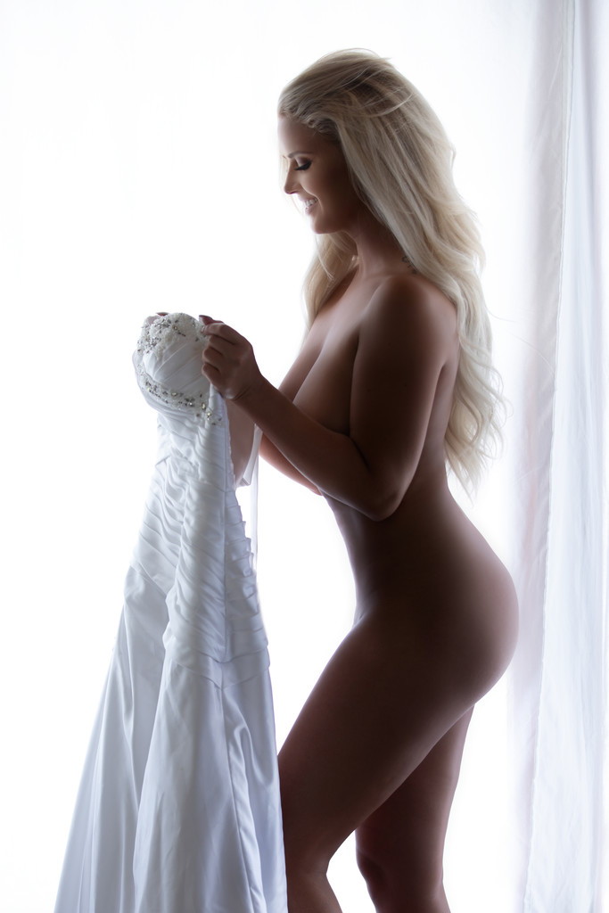 Amy Lynn Wedding Bridal Dress boudoir.