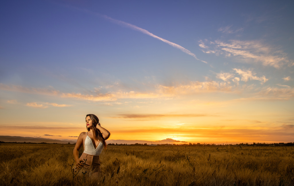 Woman in wheat field Boudoir Photo