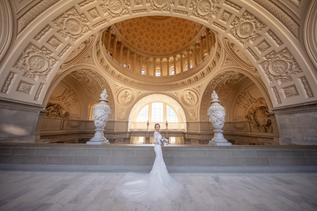 Bride at San Francisco City Hall