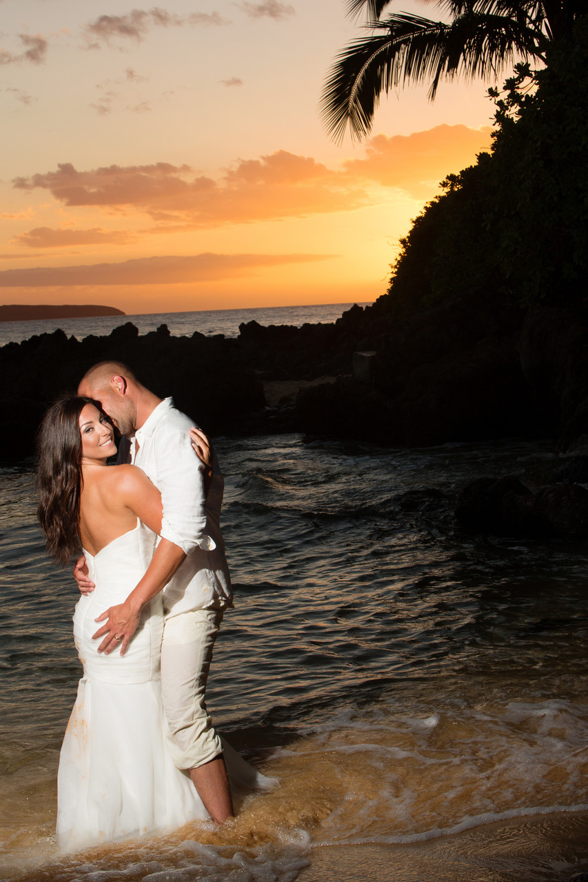 Secret Beach Maui Hawaii Makenna Cove, Destination Weddings