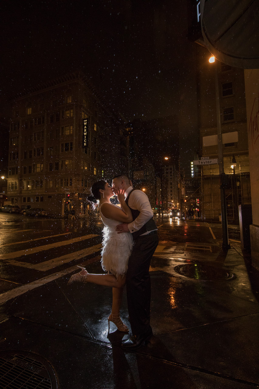 Night Wedding Photos in San Francisco