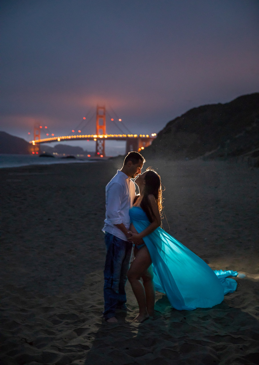 San Francisco Baker Beach Maternity Photos