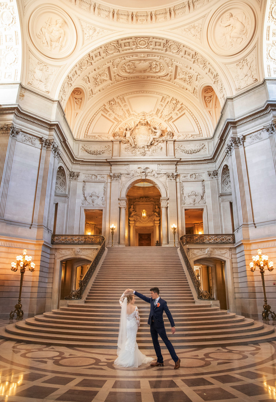 Dancing at San Francisco City Hall Wedding
