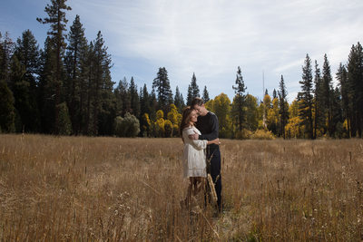 Meadow Engagement Session in Lake Tahoe