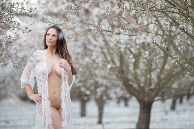 Almond Blossom boudoir photography session Tracy california