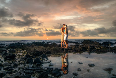 Beach wedding engagement photographer in Maui,  Hawaii