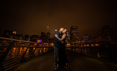 night San Francisco Engagement Photos