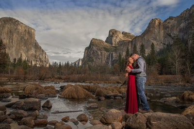 Yosemite Valley Engagement Session Valley View