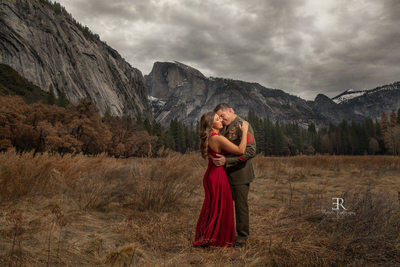 Yosemite Engagement photographer Half Dome