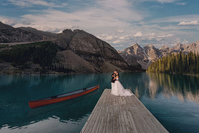 Lake Louise wedding photographer, Moraine lake weddings