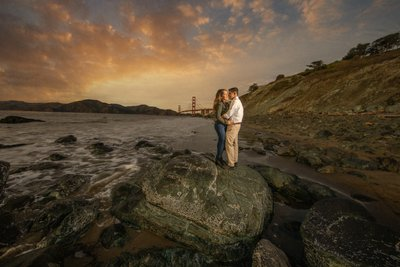 Golden Gate Bridge Engagement Session